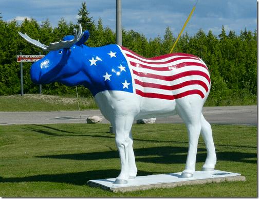 Mackinac Moose Mascot