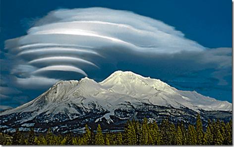 Mt Shasta Lenticular Clouds 3
