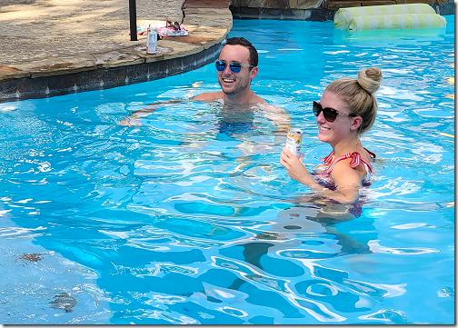Brandi 9-11 Pool Party Piper and Derek