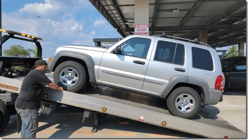 Jeep Towed 1