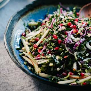 Kale Pomegranate Salad with Apple, Fennel, and Pepitas