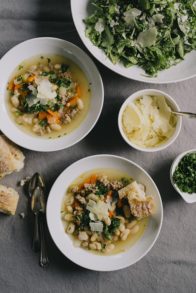 This recipe for white bean soup is deeply nutritious, incredibly delicious, and best of all, totally kid friendly. It's gluten free and packed with vegetables - the perfect soul food for chilly grey winter days.