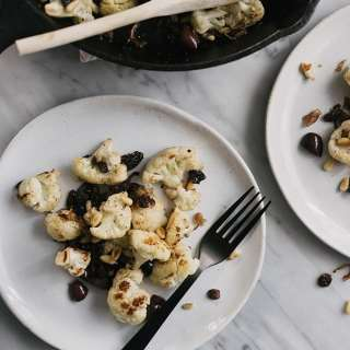 Cauliflower with Olives, Raisins, and Pine Nuts