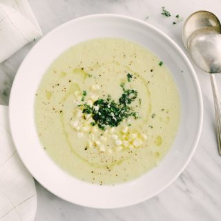 Sweet Corn Soup with Gremolata