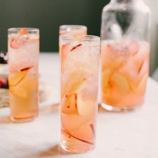 This stone fruit sangria is refreshing, just sweet enough, and perfect for entertaining on a small or large scale. I like to serve it with a simple cheese platter for an evening happy hour or weekend afternoon gathering with great friends and good times.
