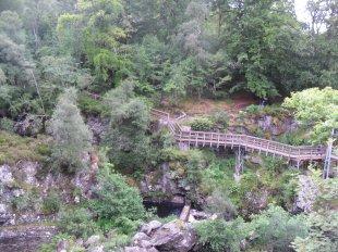 Suspension Bridge over Rogie Falls, Scotland