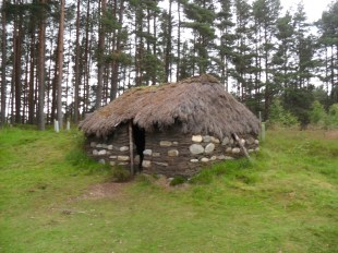 Traditional Stone Cottage at Highland Folk Museum