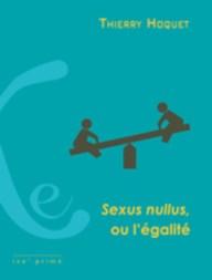 Sexus nullus ou l'égalité (couverture)