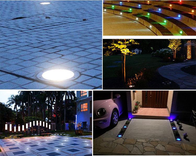 Solar Power 3LED Lamp Waterproof Outdoor Fence Lamp Garden