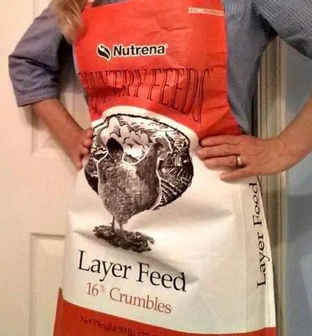 feedsack apron