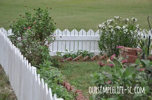white washed fence