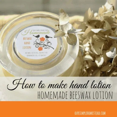 How to make hand lotion.