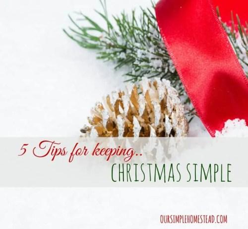 Keeping Christmas Simple