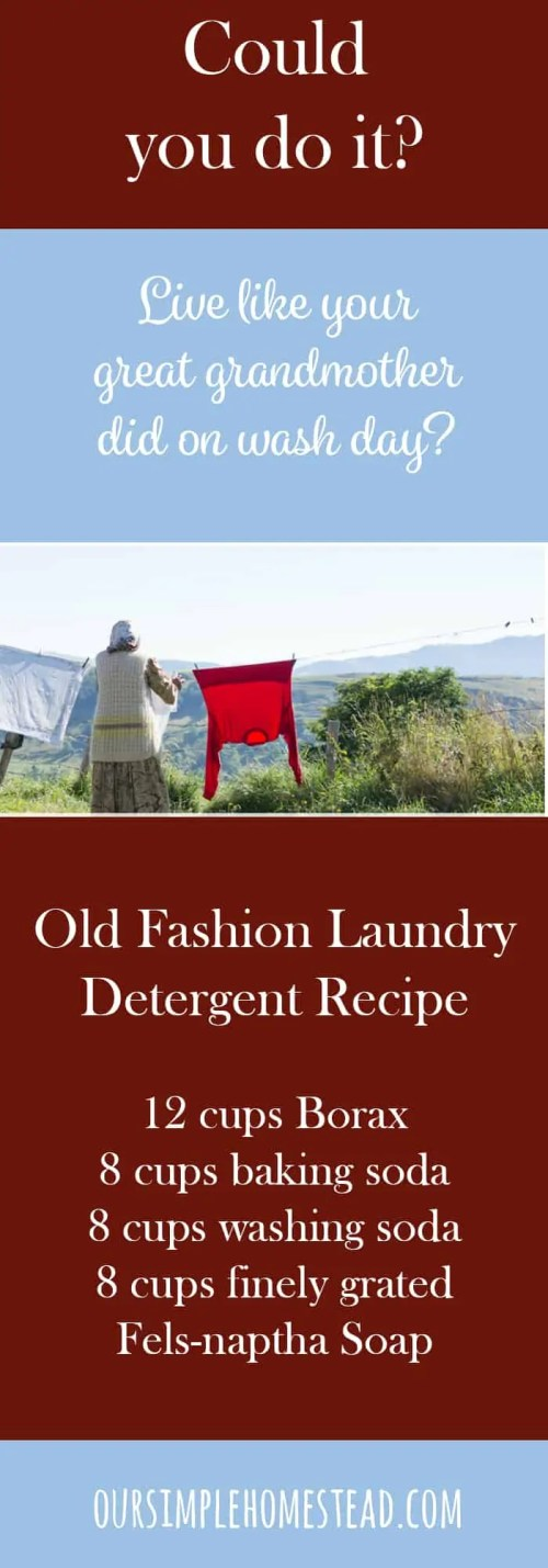 Old Fashion Laundry Detergent Recipe