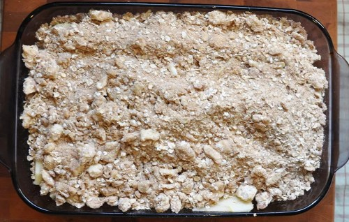 old fashion apple crisp