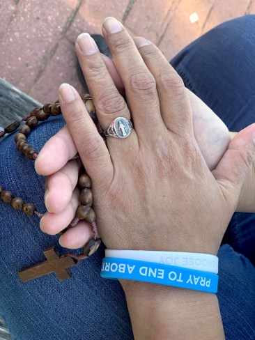 I pray the rosary every morning before I go to work as a caregiver