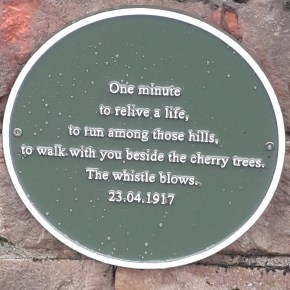 Colne Valley Tree Society wall plaque