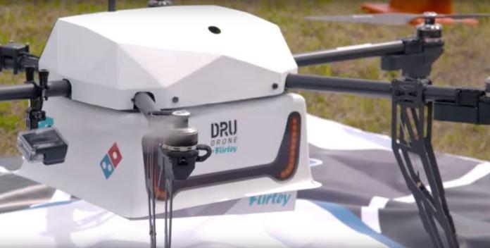 waralaba domino's pizza - Domino's DRU drone
