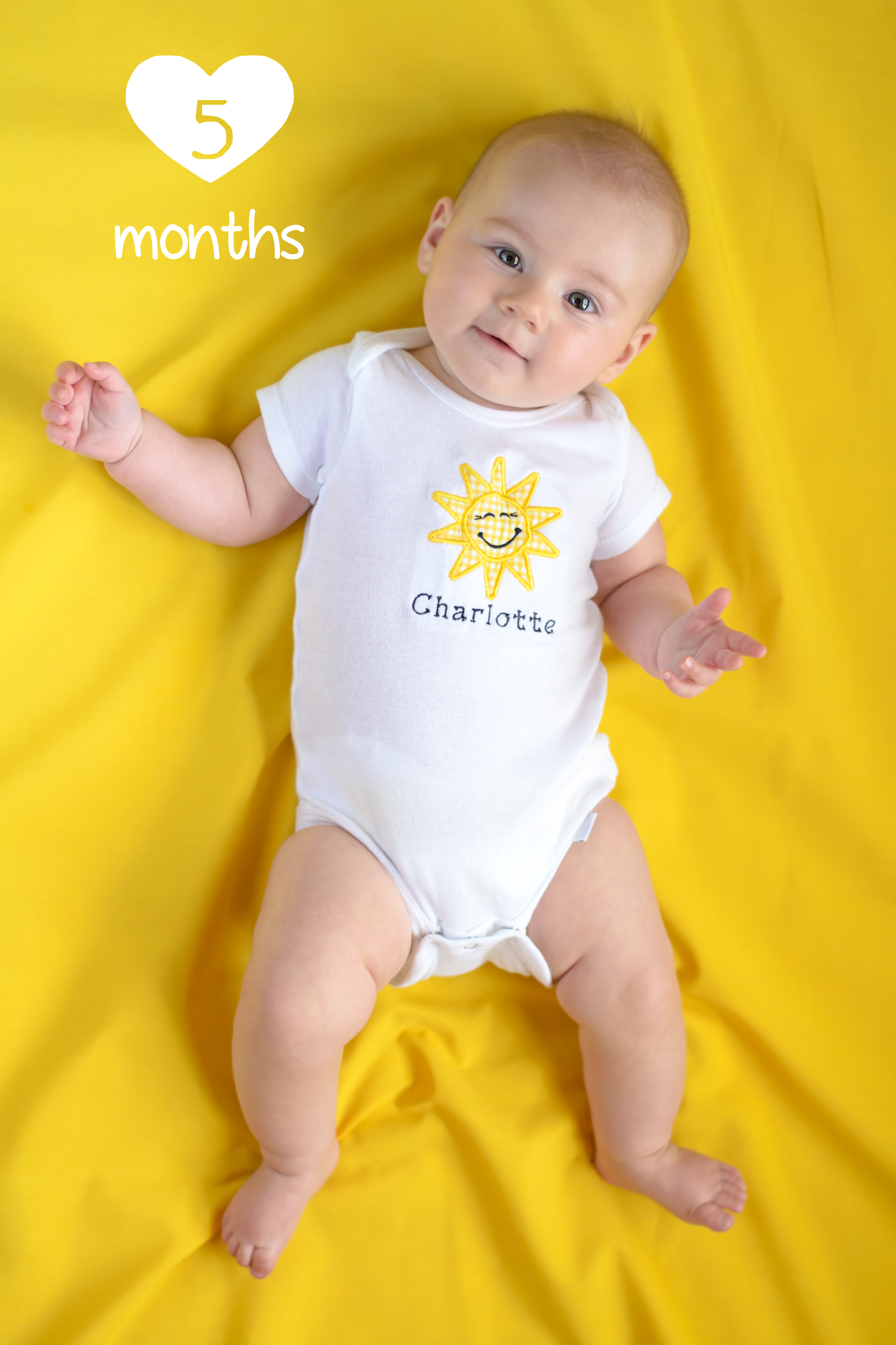 Charlotte S Time Capsule 5 Months Our Sunshine Angel