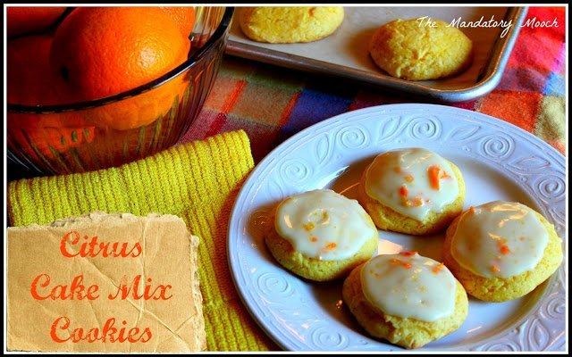 Citrus Cake Mix Cookies {Guest Post} The Mandatory Mooch