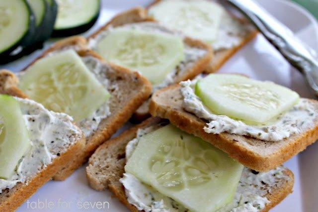 Mini Cucumber Sandwich Bites