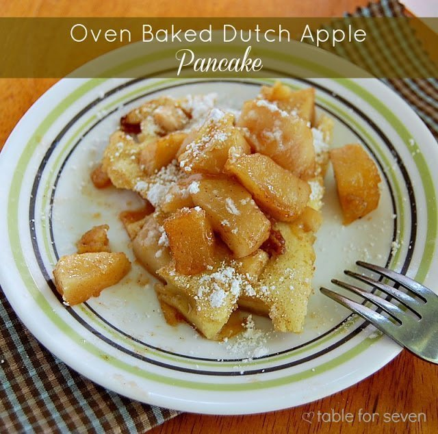 Oven Baked Dutch Apple Pancake