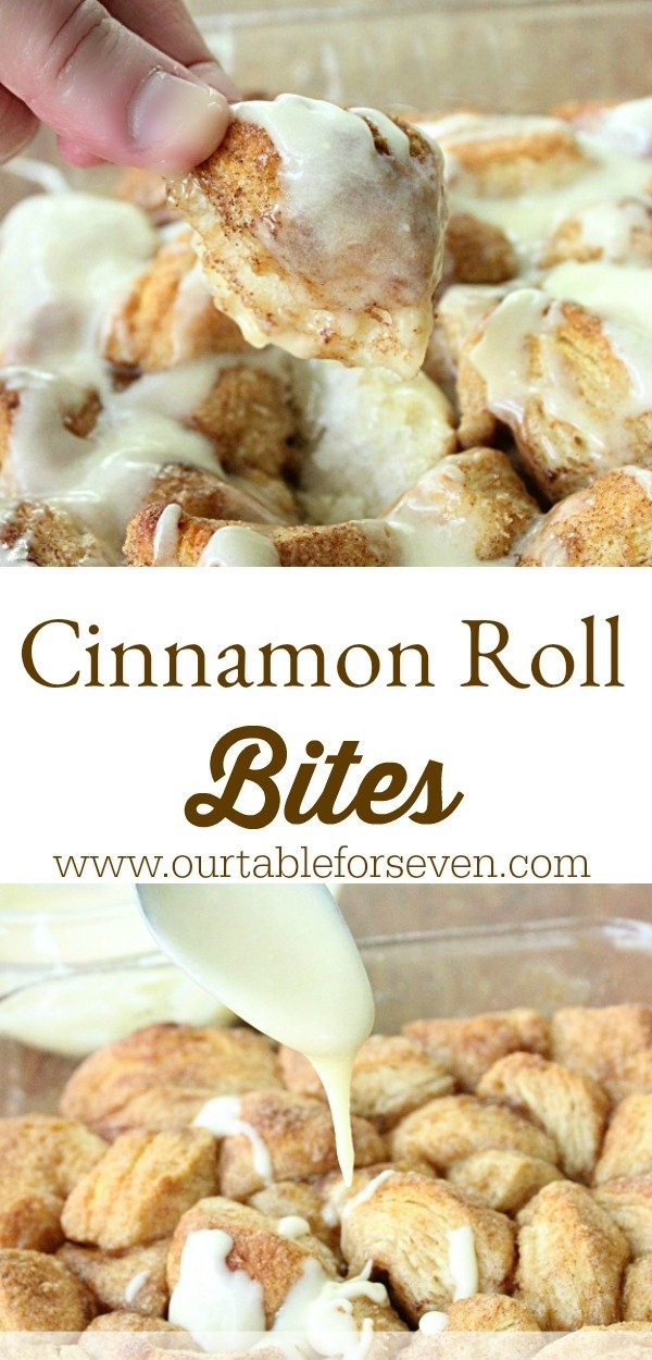 Cinnamon Roll Bites from Table for Seven
