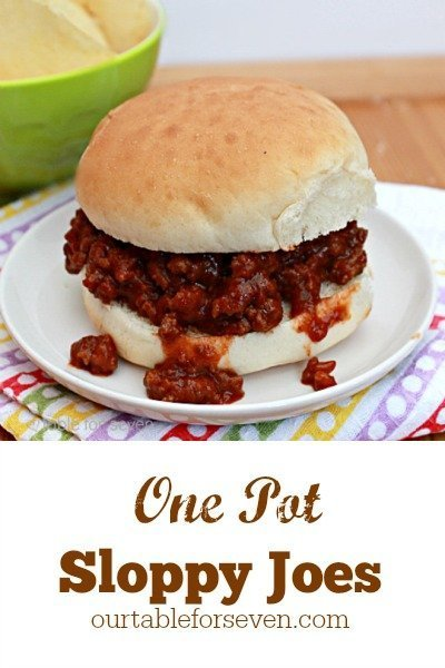 Classic One Pot Sloppy Joes from Table for Seven