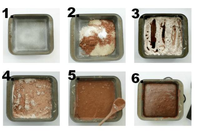 The Easiest Chocolate Cake Ever. AKA Chocolate Cockeyed Cake