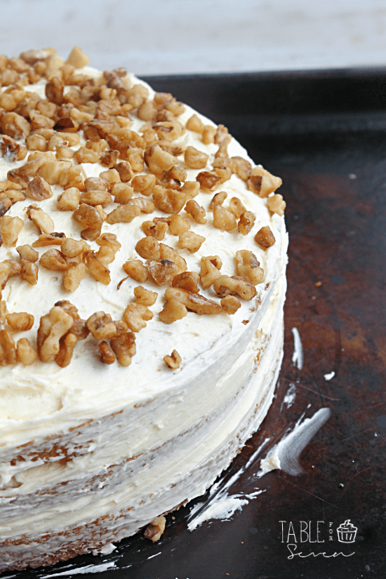 Maple Walnut Cake with Maple Buttercream Frosting