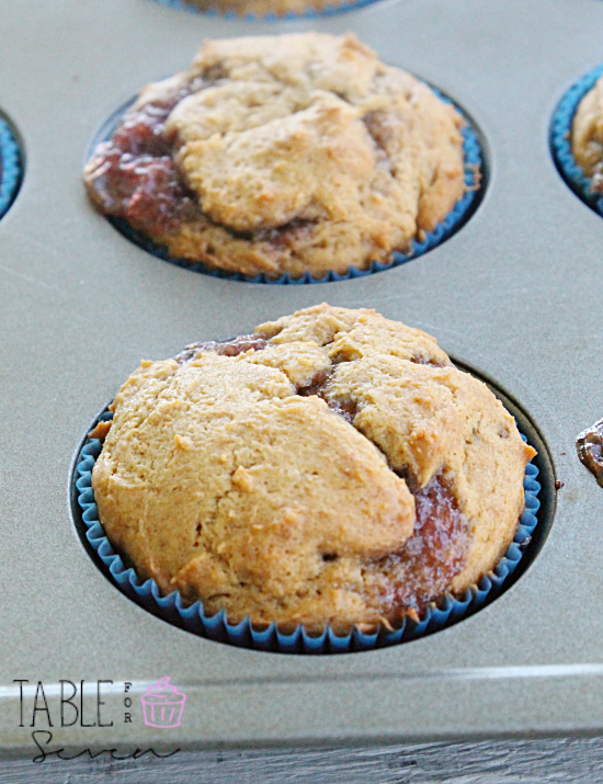 Peanut Butter & Jelly Muffins: Table for Seven