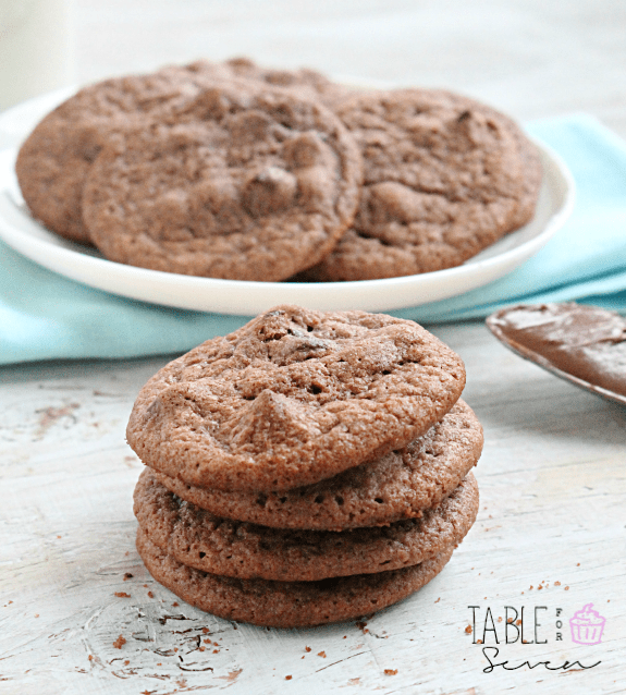 Nutella Chocolate Chip Cookies from Table for Seven