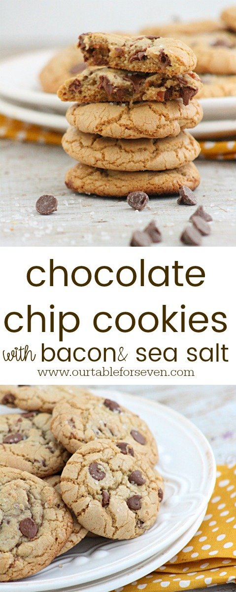 Chocolate Chip Cookies with Bacon and Sea Salt from Table for Seveb