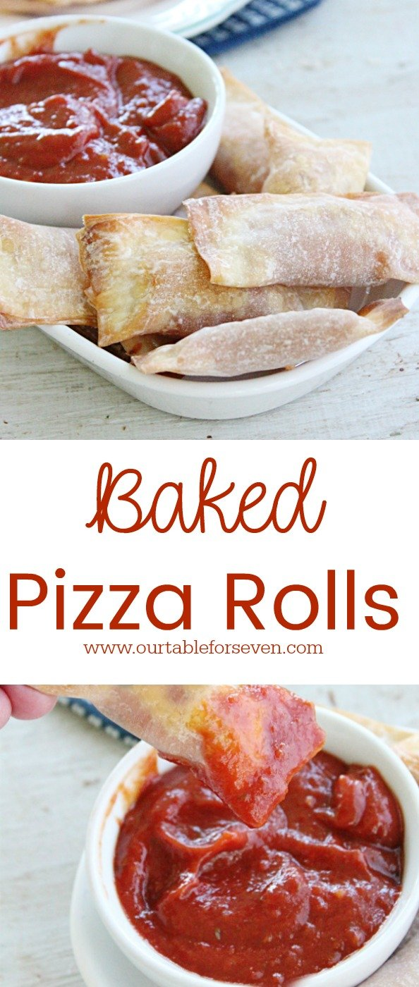 Baked Pizza Rolls from Table for Seven