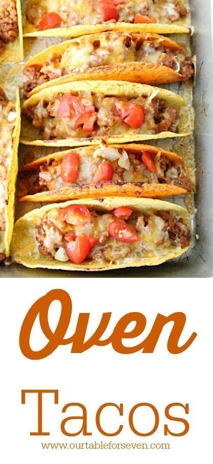 Oven Tacos with Homemade Taco Seasoning from Table for Seven