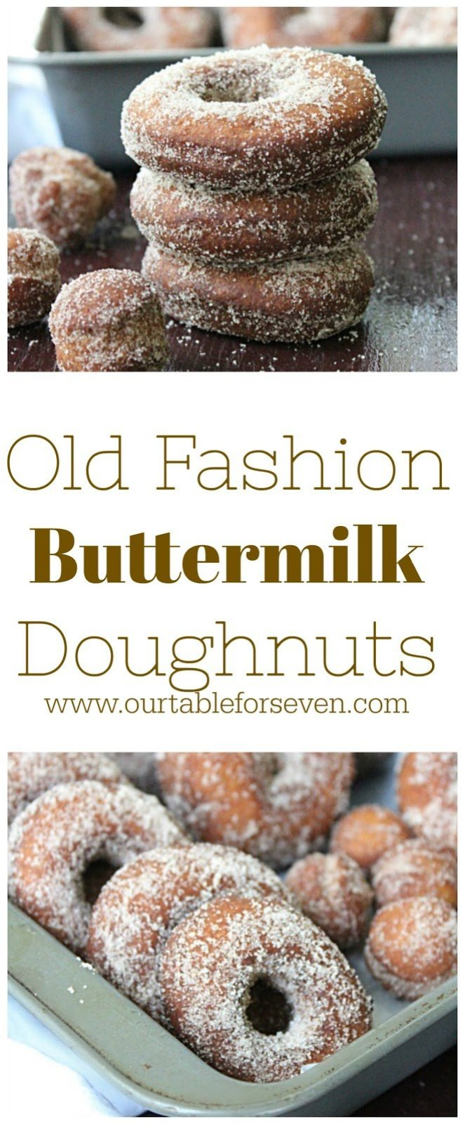 Old Fashion Buttermilk Doughnuts from Table for Seven:  The classic doughnut! Super easy to make and so delicious. You will not be able to eat just one!