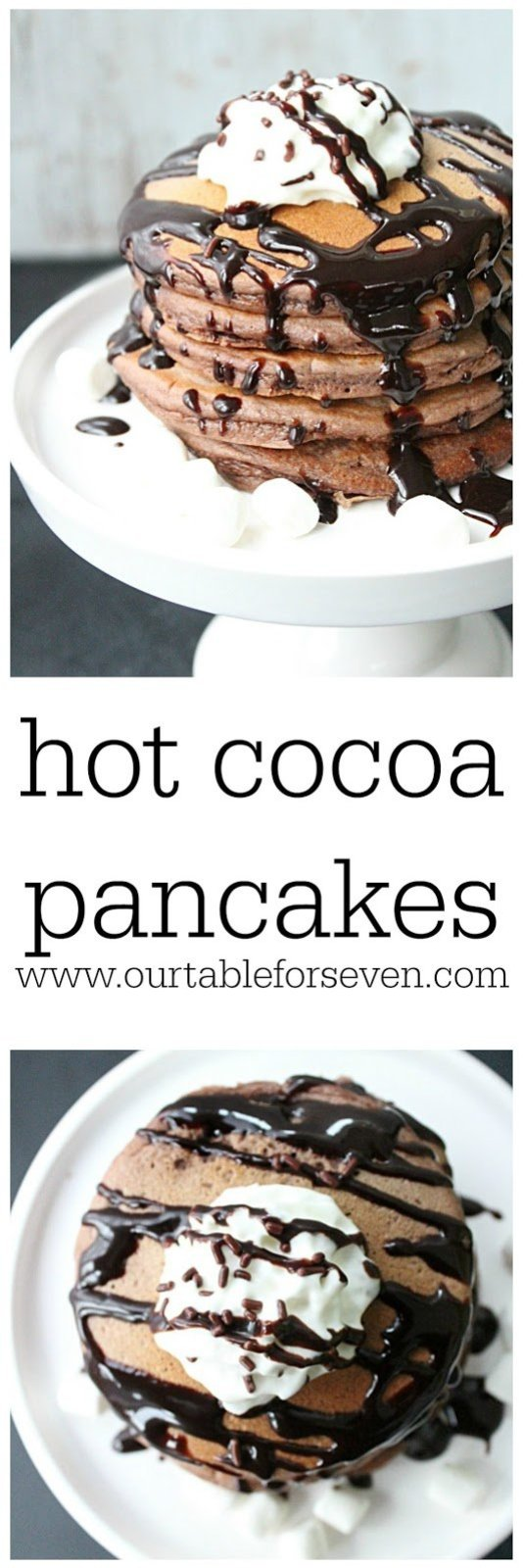 Hot Cocoa Pancakes from Table for Seven