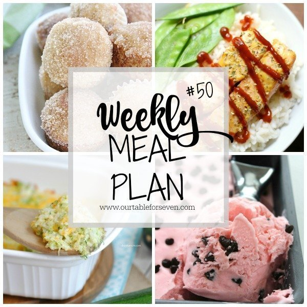 Weekly Meal Plan #50 from Table for Seven