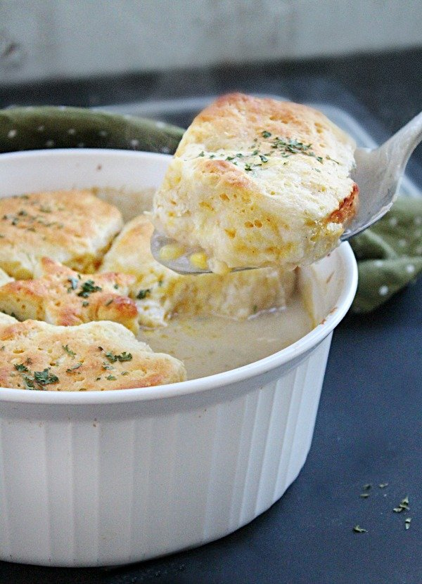 Chicken Pot Pie with Biscuits from Table for Seven