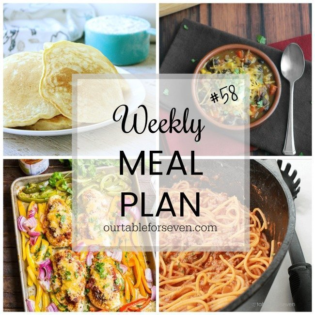Weekly Meal Plan #58 from Table for Seven