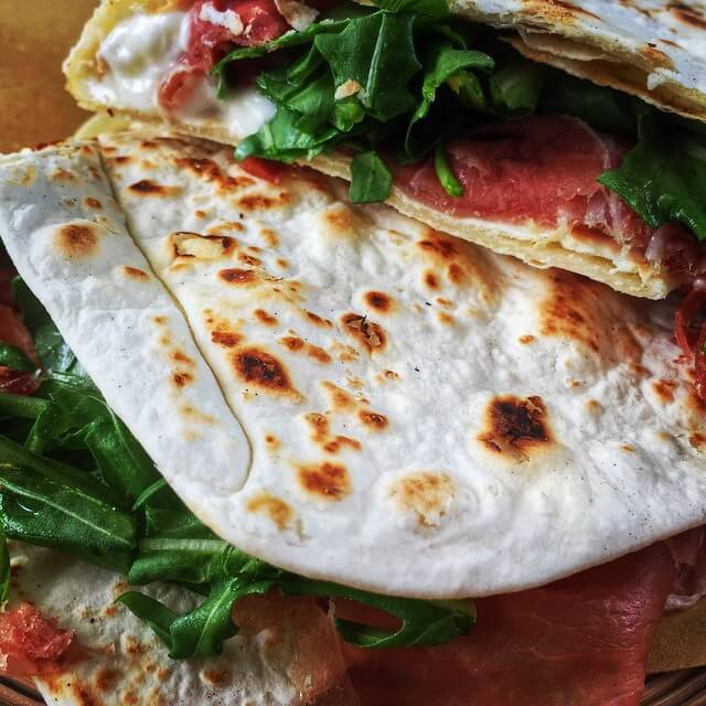 Traditional Piadina in Rimini
