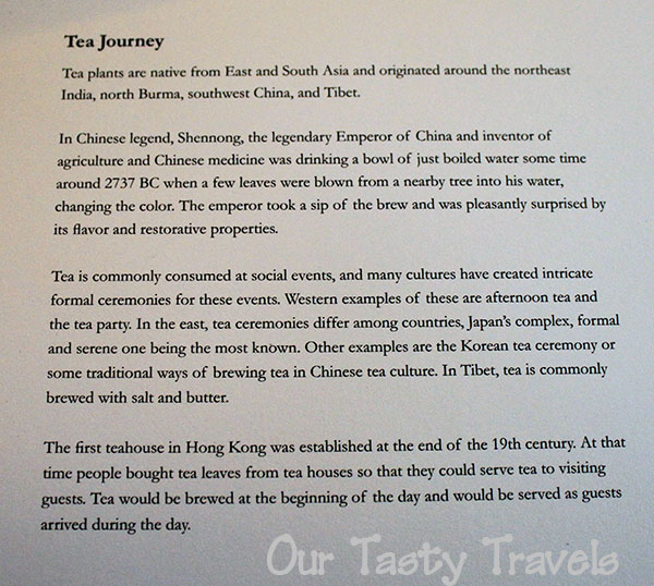 Tea Journey on the menu of The Chocolate Library at The Ritz Carlton, Hong Kong http://ourtastytravels.com/blog/the-ritz-carlton-hong-kong-chocolate-afternoon-tea-at-the-chocolate-library/ #ourtastytravels