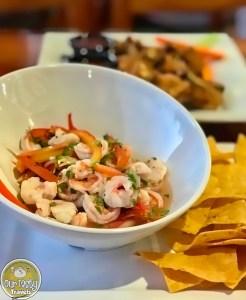 Shrimp Ceviche, Crocs Sunset Bar, Ambergris Caye, Belize - Our Tasty Travels