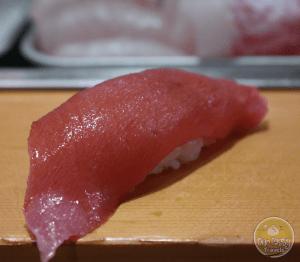 Otoro, or Fatty Tuna at Sushi Dai at Tsukiji Fish Market in Tokyo, Japan -- ourtastytravels.com