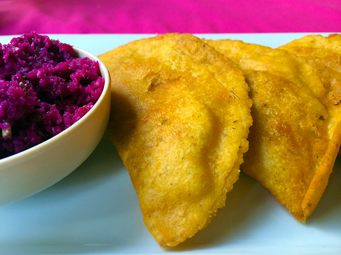 Empanadas from Elvi's Kitchen in San Pedro, Belize http://ourtastytravels.com/blog/street-food-saturday-empanadas-elvis-kitchen-belize/ #food #travel #belize #ourtastytravels #cayetobelize