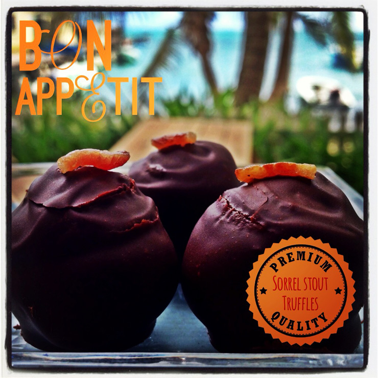 Kakaw Belizean chocolate Truffles made with Belikin's Sorrel Stout