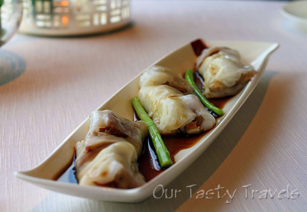 Iberian Pork Rice Flour Roll Tin Lung Heen  http://ourtastytravels.com/restaurants/tin-lung-heen-cantonese-dim-sum-at-the-ritz-carlton-hong-kong/ #ourtastytravels