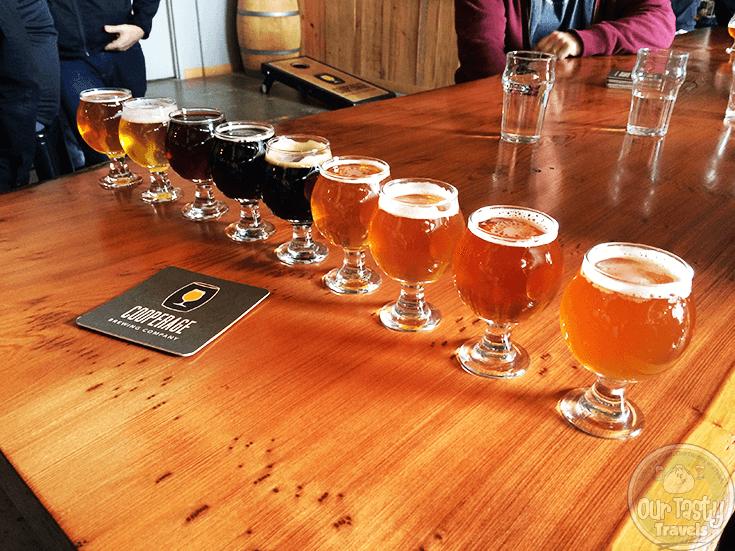 Tasting Flight at Cooperage Brewing Company in Santa Rosa, California