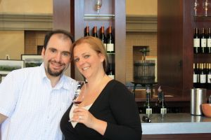 Brett and I in the Franciscan Tasting Room