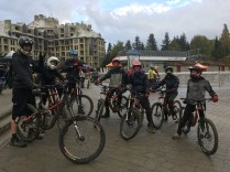 Mountain biking with my co-workers at Whister